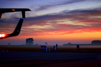 Sunrise, Timaru Airport with Beech 1900D